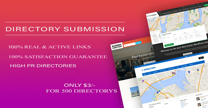 Guaranteed 500 SEO-friendly directory submission service