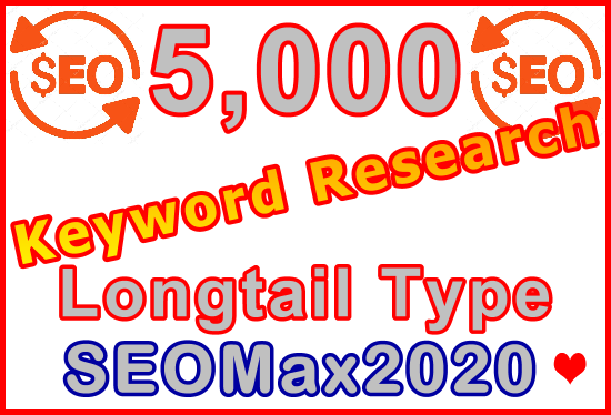 Research 5,000 Longtail Type Keywords