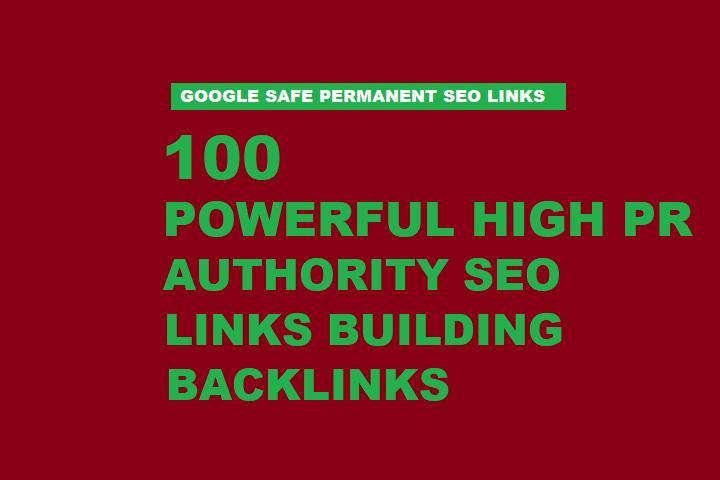 100 High PR Authority seo Link Building Backlinks
