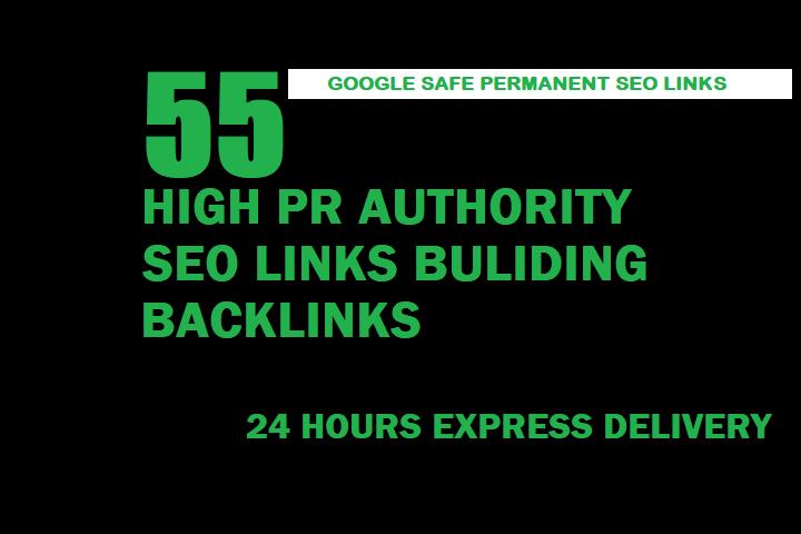 Build 55 High Pr Authority SEO Backlinks
