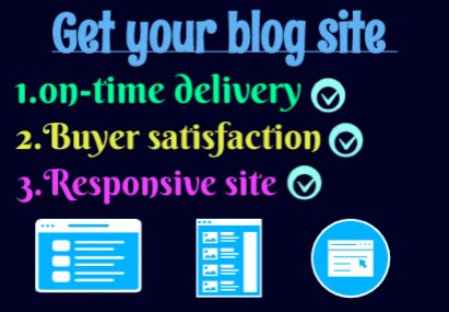 I will code a perfect Blog site at budget price