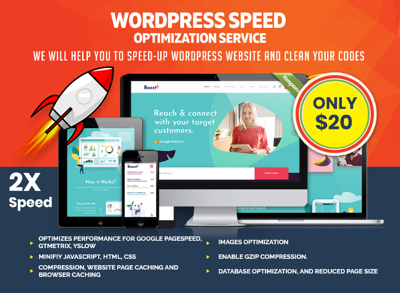 Increase 2X Wordpress speed optimization or Speed Up Wordpress