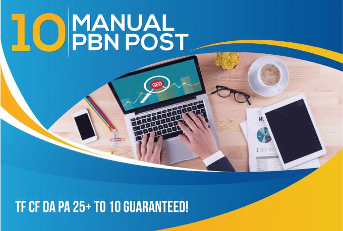 10 Manual Pbn do follow high quality backlinks