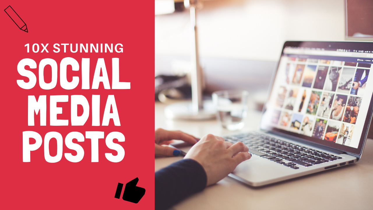 10x High Quality Attractive Social Media Post Designs