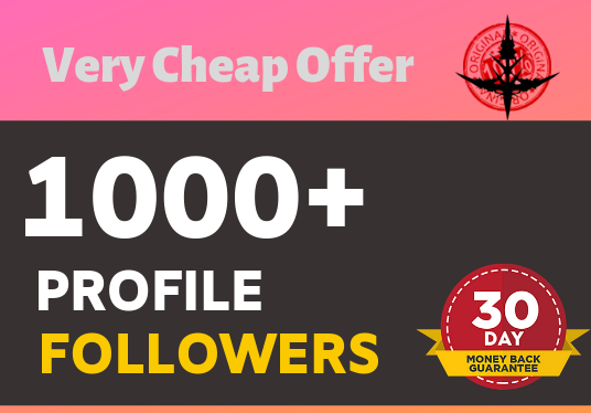 Add 1000+ High Quality Real Profile followers