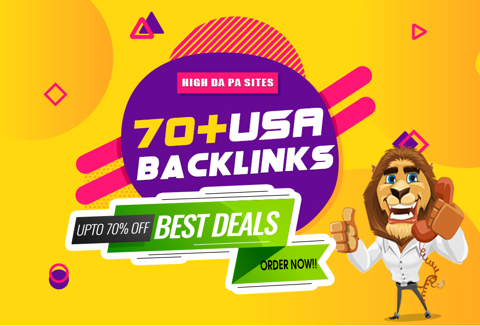 Manually Build 70+ Dofollow High Authority DA 90+ USA Backlinks