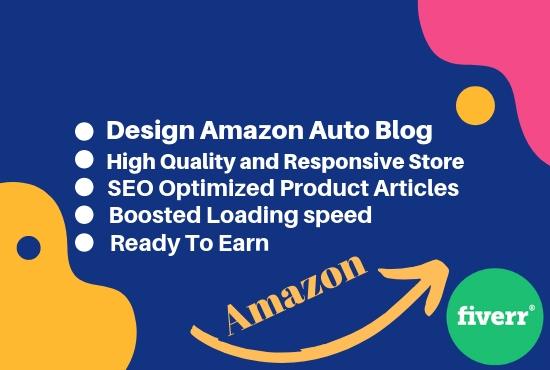 Design Amazon Auto Blog Affiliate Website