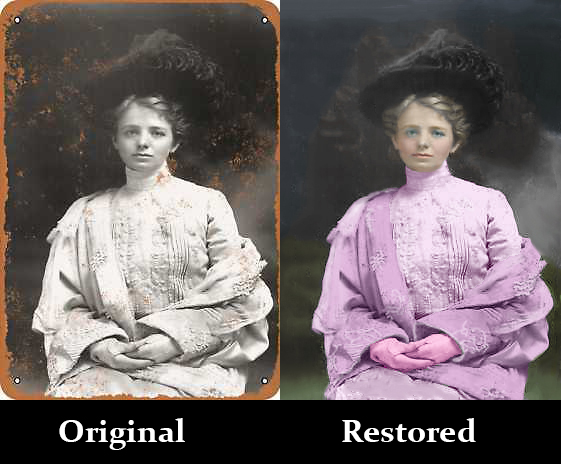 Photo restoration - Photoshop editing