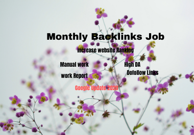 Monthly 1000 backlinks for your website for ranking