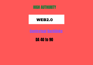 Do 50 web 2.0 backlinks for your website