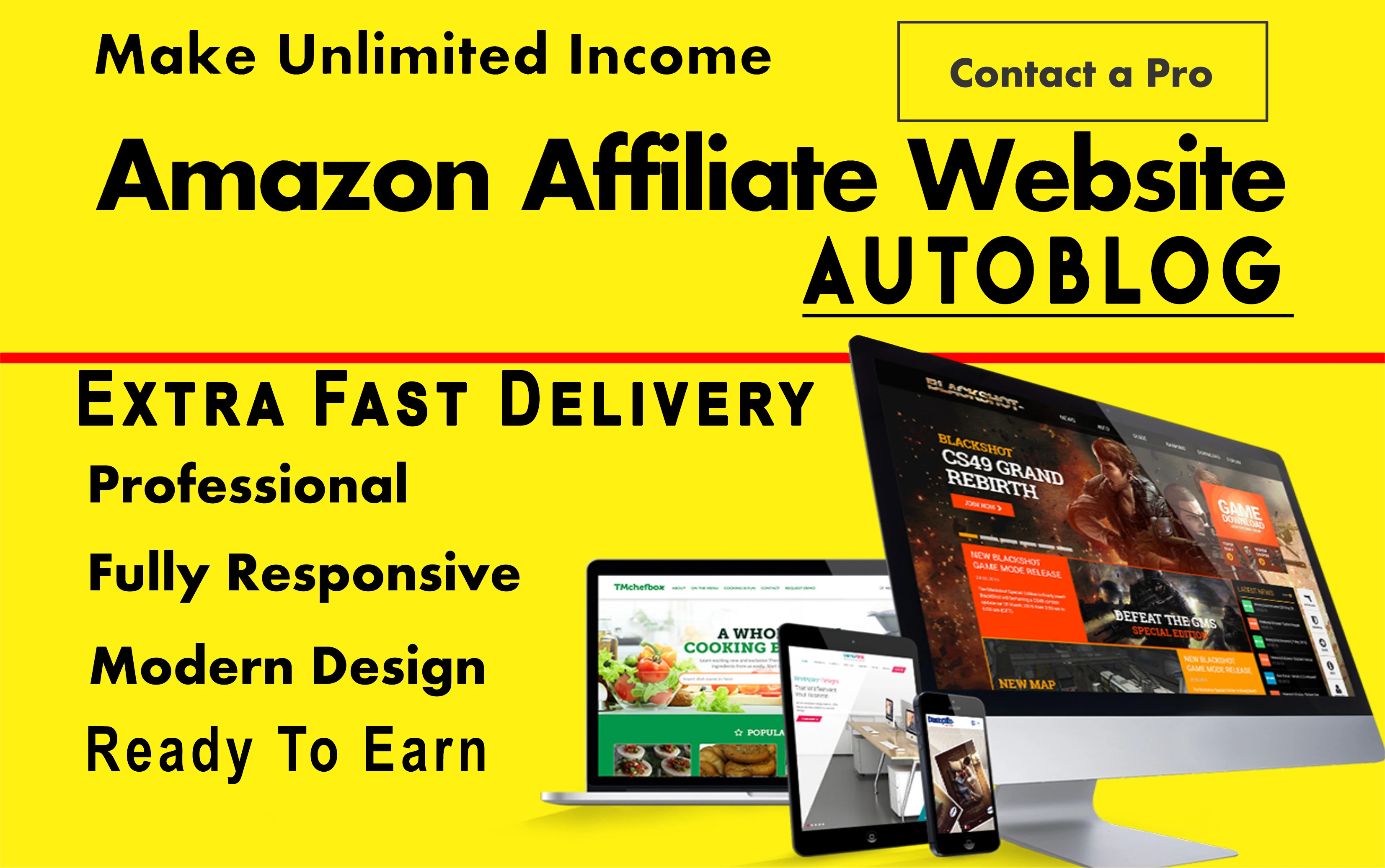 Design Amazon AutoBlog Affiliate WordPress Website