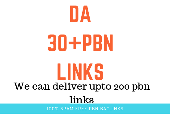 i will Provide you 5 pbn backlinks from DA 30 plus Homepage PBN backlinks