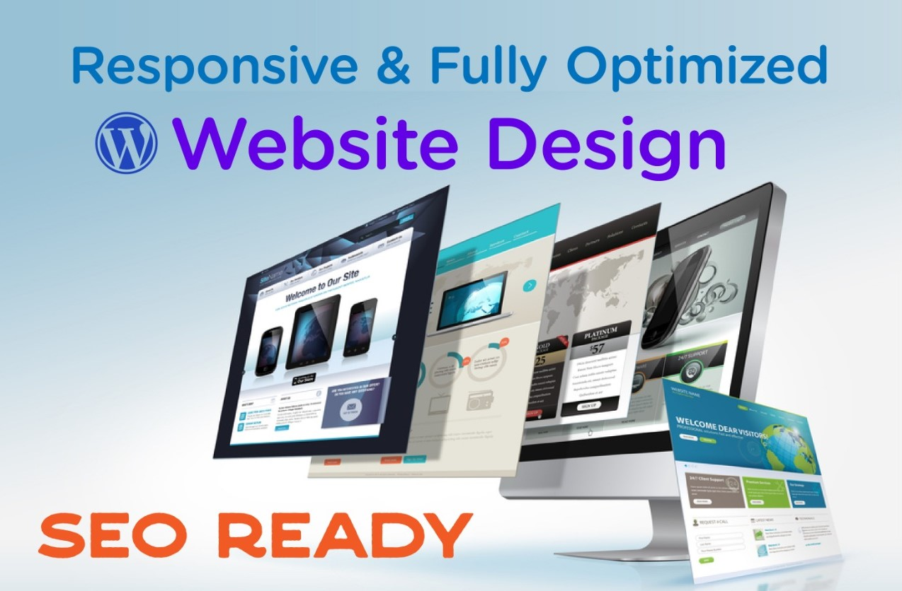 I will make 5 Pages Fully Responsive & SEO Friendly Wordpress Website