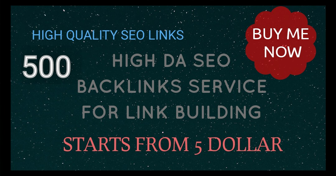 Do 500 Do-follow High PR4-PR7 Backlinks