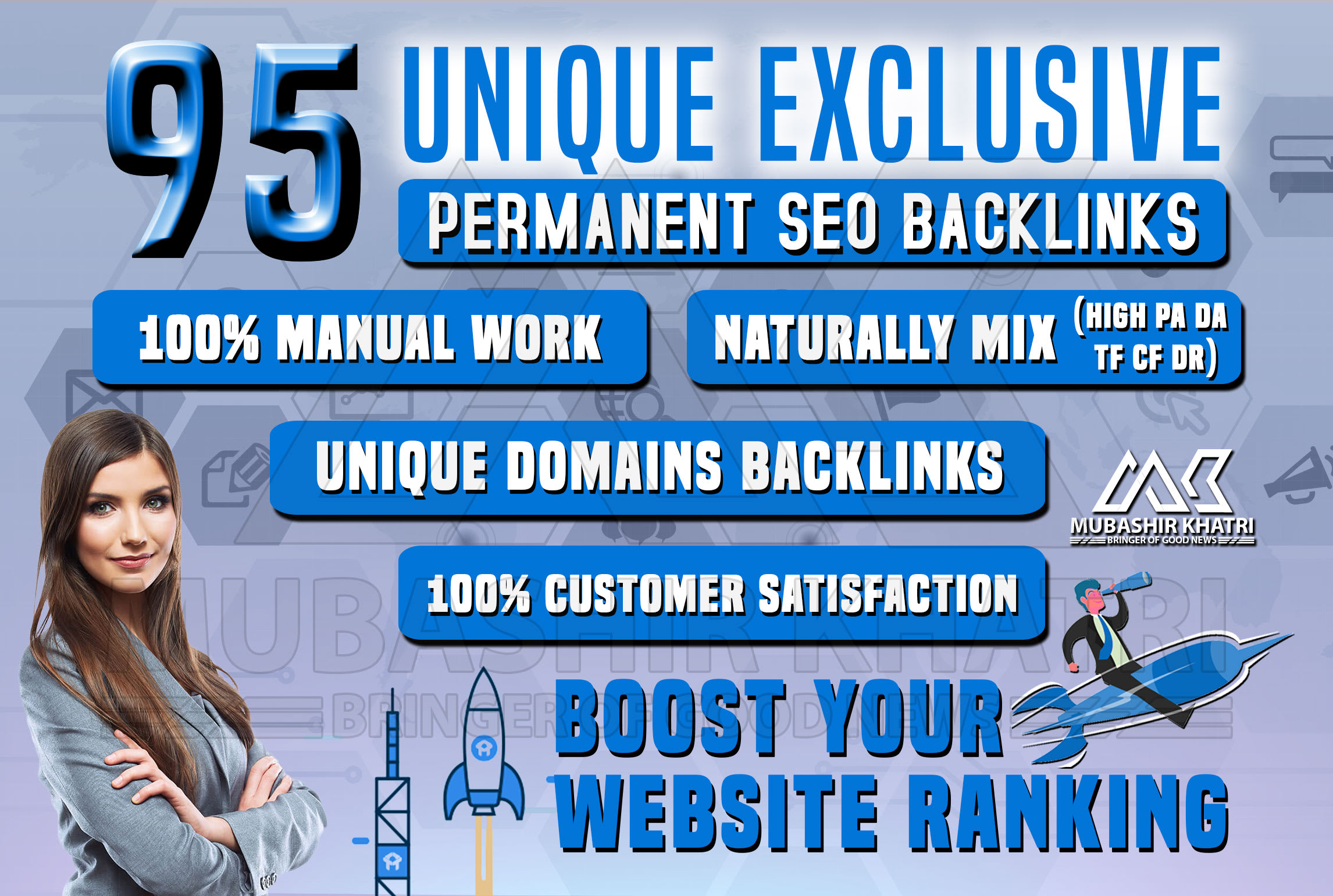 Create 95 Pawerfull Blog Comments Unique Domain penement Backlinks High DA, PA, TF, CF