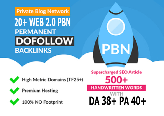 20 HIGH TRUSTFLOW DA 35+ PA 35+ HOMEPAGE Web2 PBN DOFOLLOW BACKLINKS