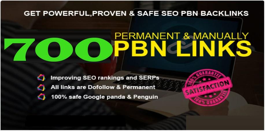 Total 700 Premium Website Home Page WEB 2.0 PBN Post DA 40+ exclusive Back-links with Unique Domain