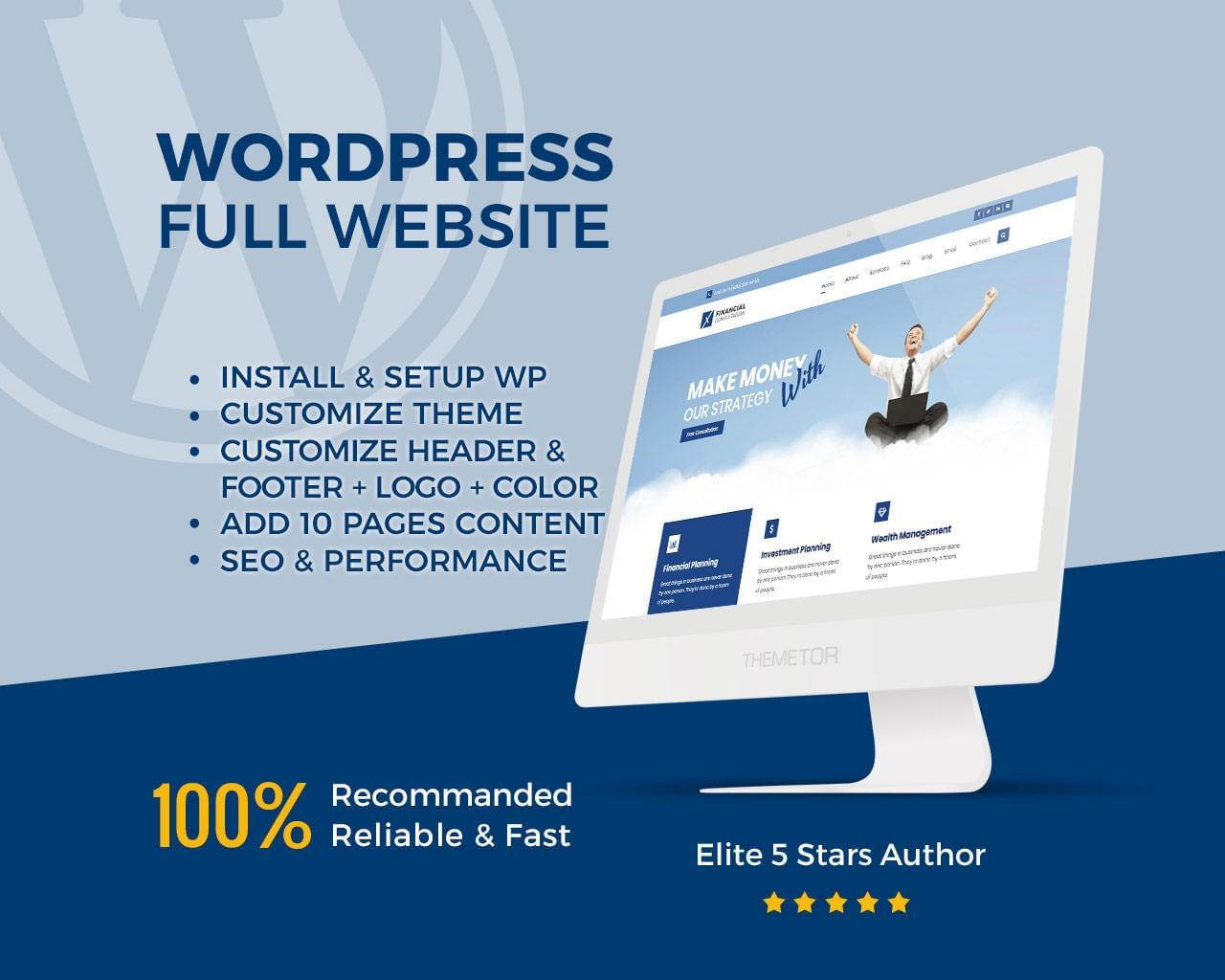 I Will Create Modern And Responsive Wordpress Websites/I Will Increase Your Wordpress Speed