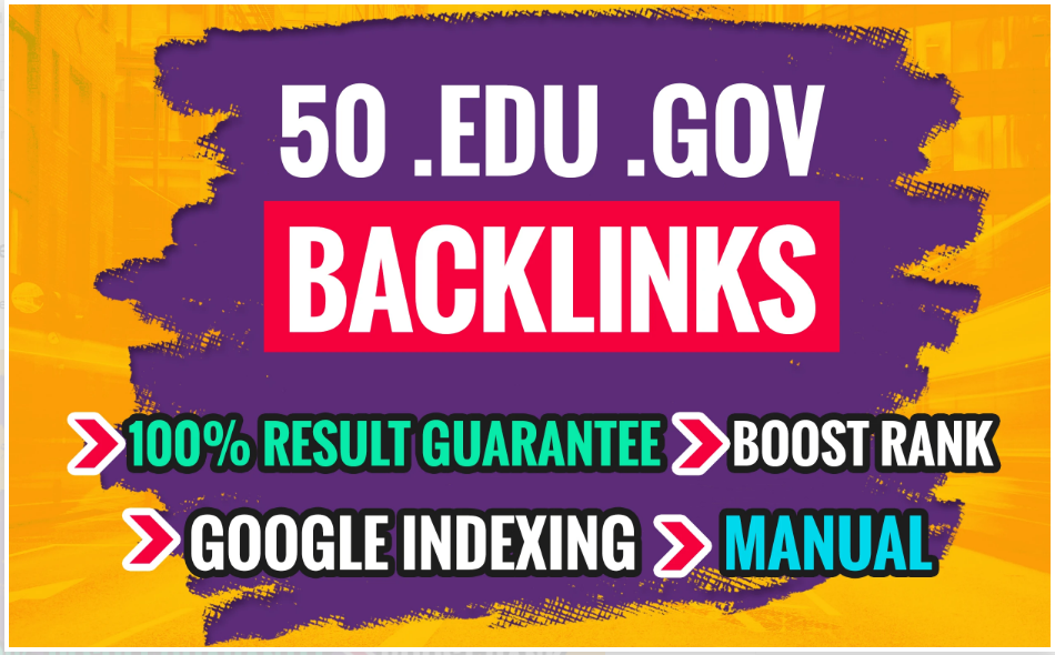 I will do 50 edu. gov link building, backlinks for off page SEO