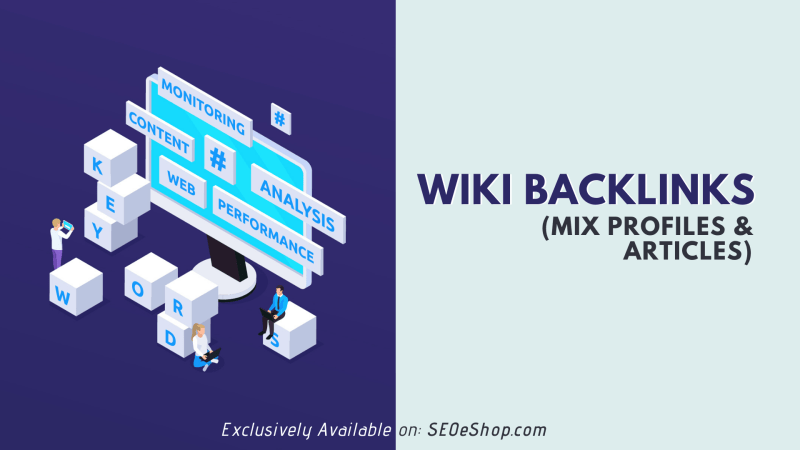 wiki+article backlinks 1000+1000 mix profiles & articles with google top page website seo