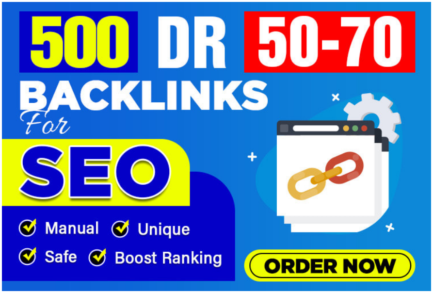 I will make 500 DR 50 to 70 high authority homepage backlinks for seo