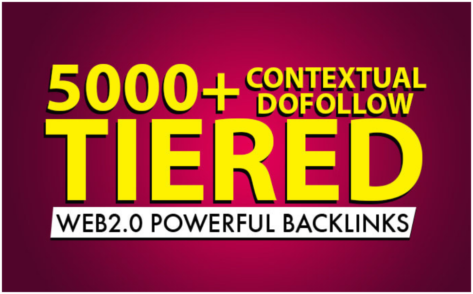 I will build 5000 plus tiered dofollow contextual seo backlinks