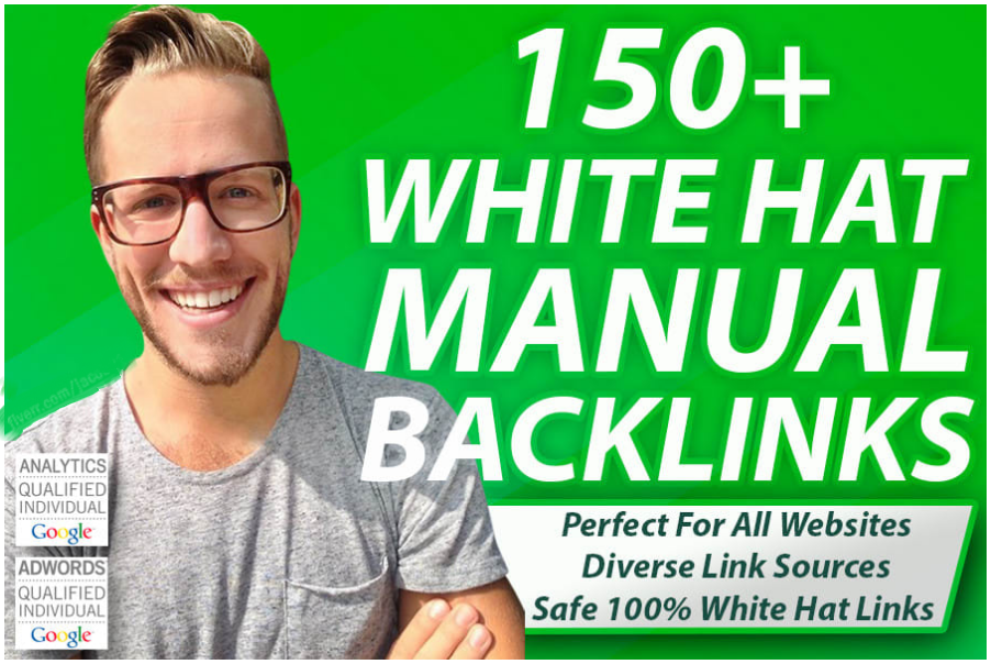 I will 150 SEO backlinks white hat link building service for google top ranking