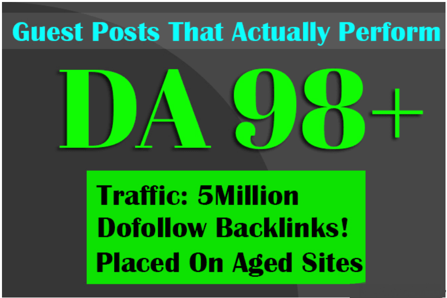 build SEO backlinks through high da guest posts high authority link building