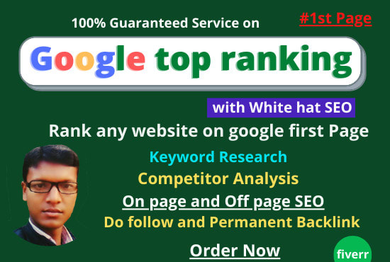 I will bring guaranteed any website in first page on google with white hat SEO