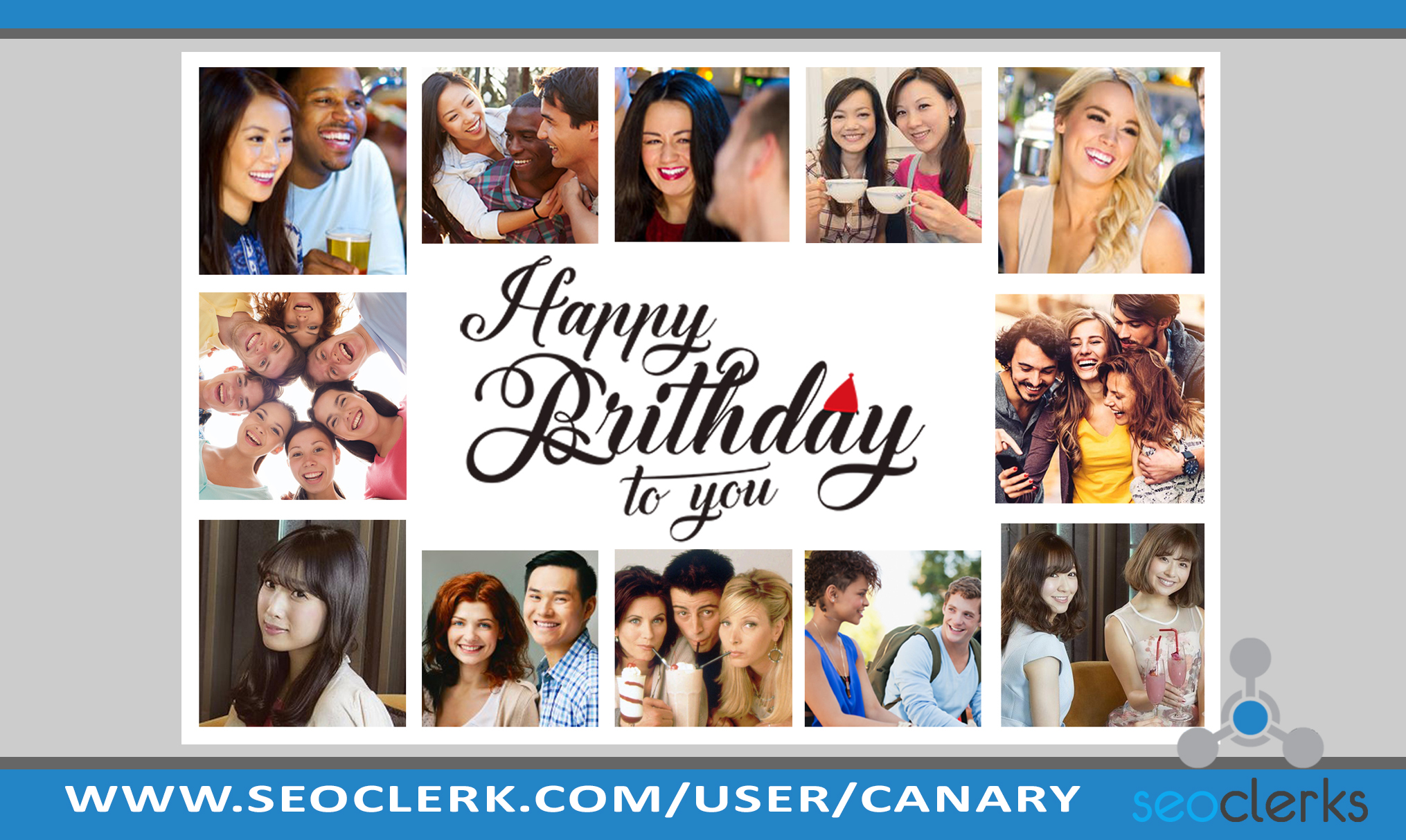 I will create photo collage gift for birthday,  anniversary,  Christmas etc