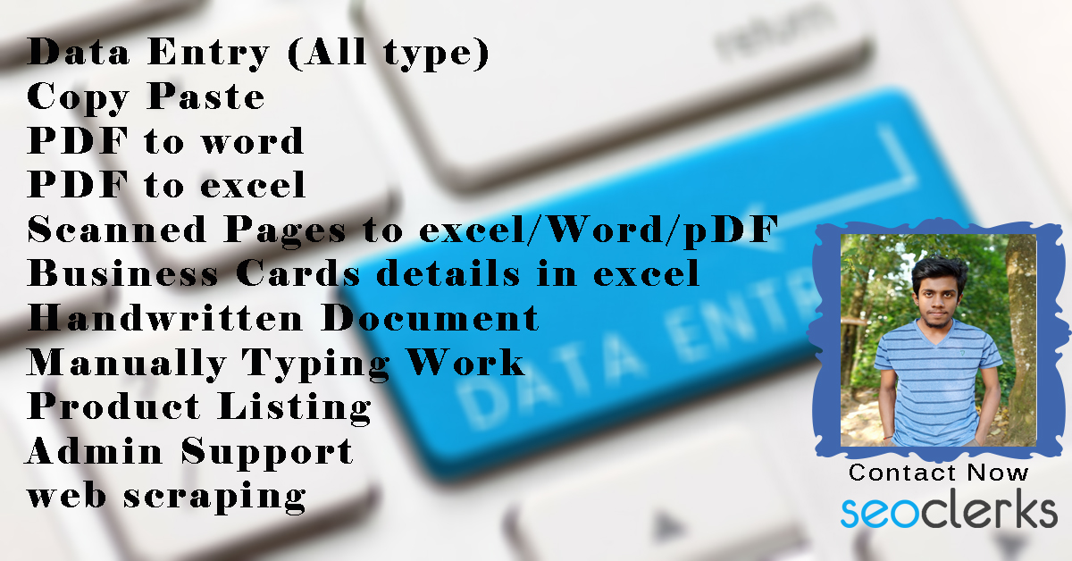 Do Any Kind Of Data Entry And Web Research Work For You