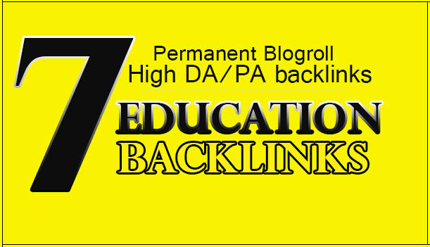Give 7 Education Backlinks Blogroll Permanent