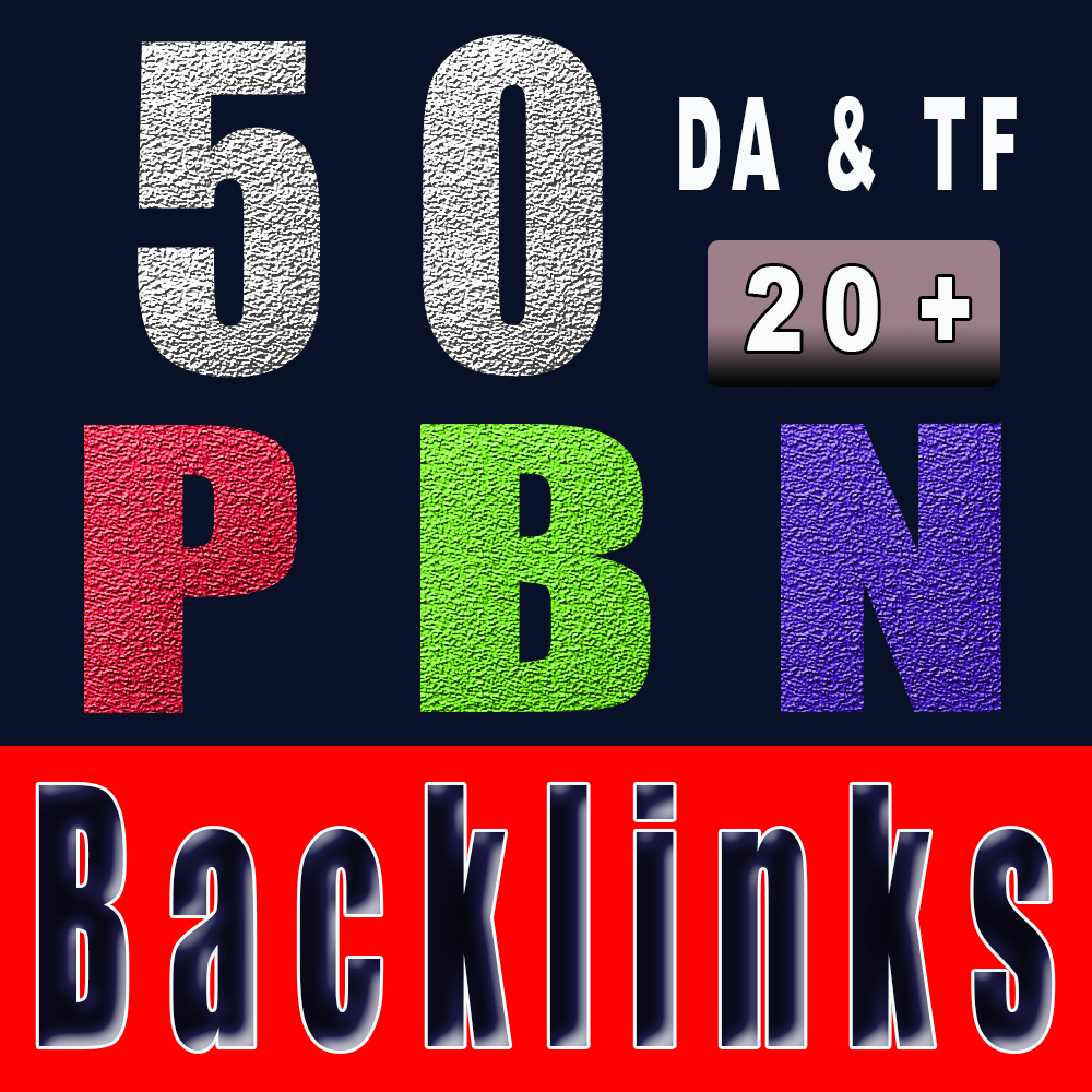 50 PBN backlinks 20+ DA& PA Homepage backlinks