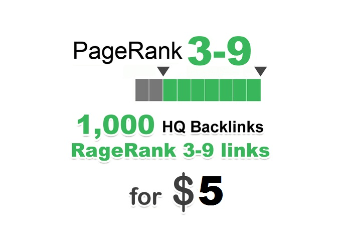 provides 1000 PR 3-9 backlinks