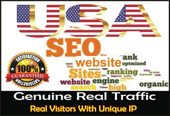 Send 15,000 organic targeted USA web traffic