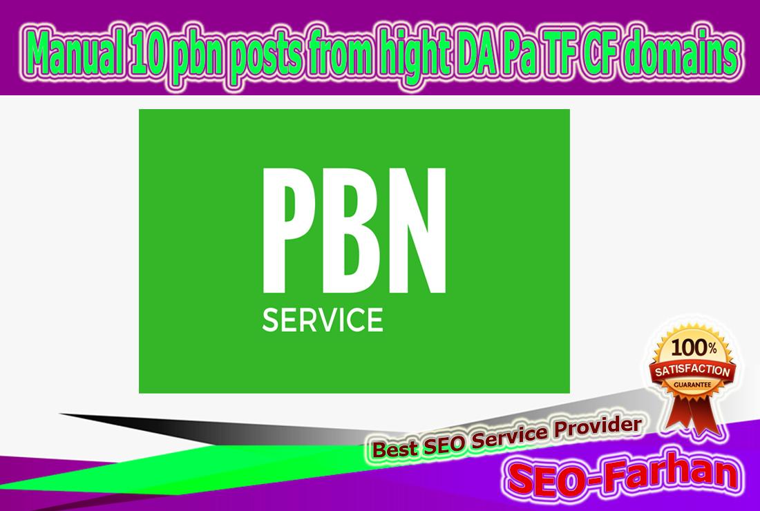 Manual 50 pbn posts from hight DA Pa TF CF 20-30+ domains