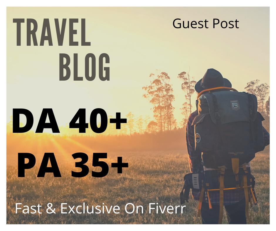 I will do guest post in travel blogs da30+
