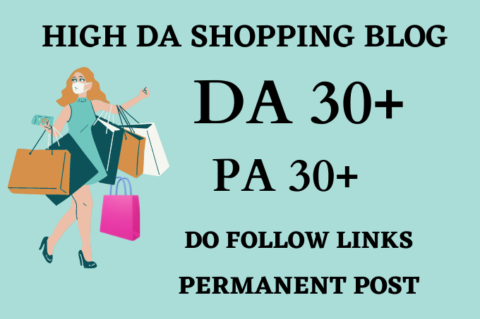 I will do guest post on da54 shopping blog with dofollow backlinks
