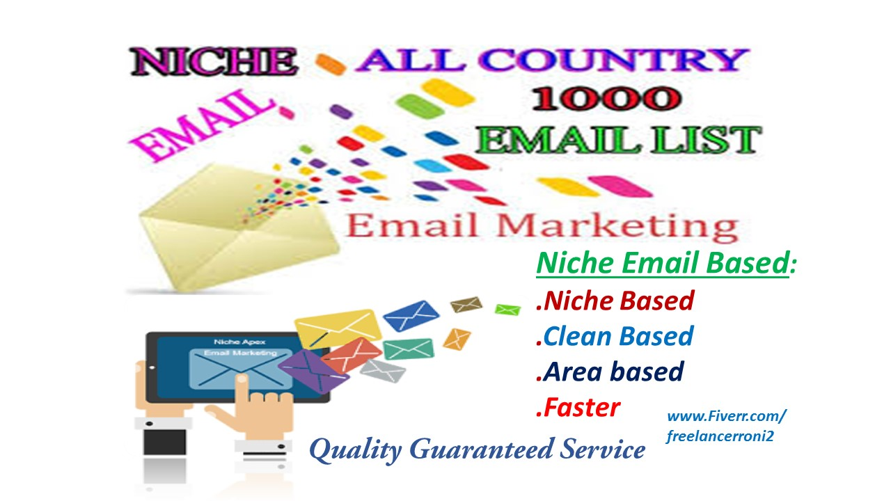 Find Targeted Niche 250 Active Email List collect of your choice