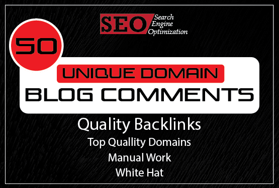 Will Create 50 Unique Domain Blog Comment Backlinks