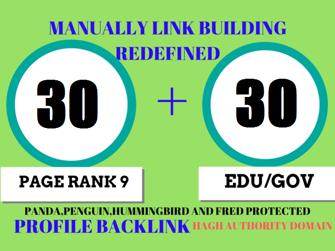 30 Pr9 + 30 Edu - Gov High Pr SEO Authority Backlinks - Fire Your Google Ranking