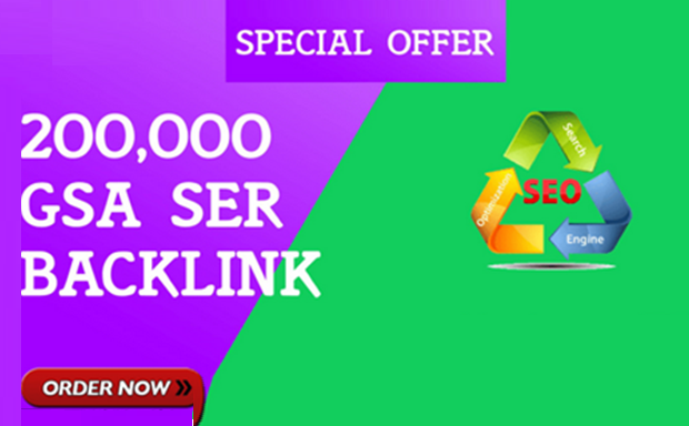 200,000 GSA SER SEO Backlinks for 6