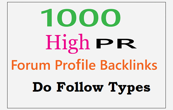 1000, + Forum Profiles Back-links