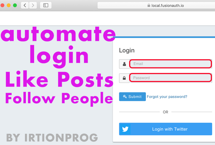 make a bot perform login on any website