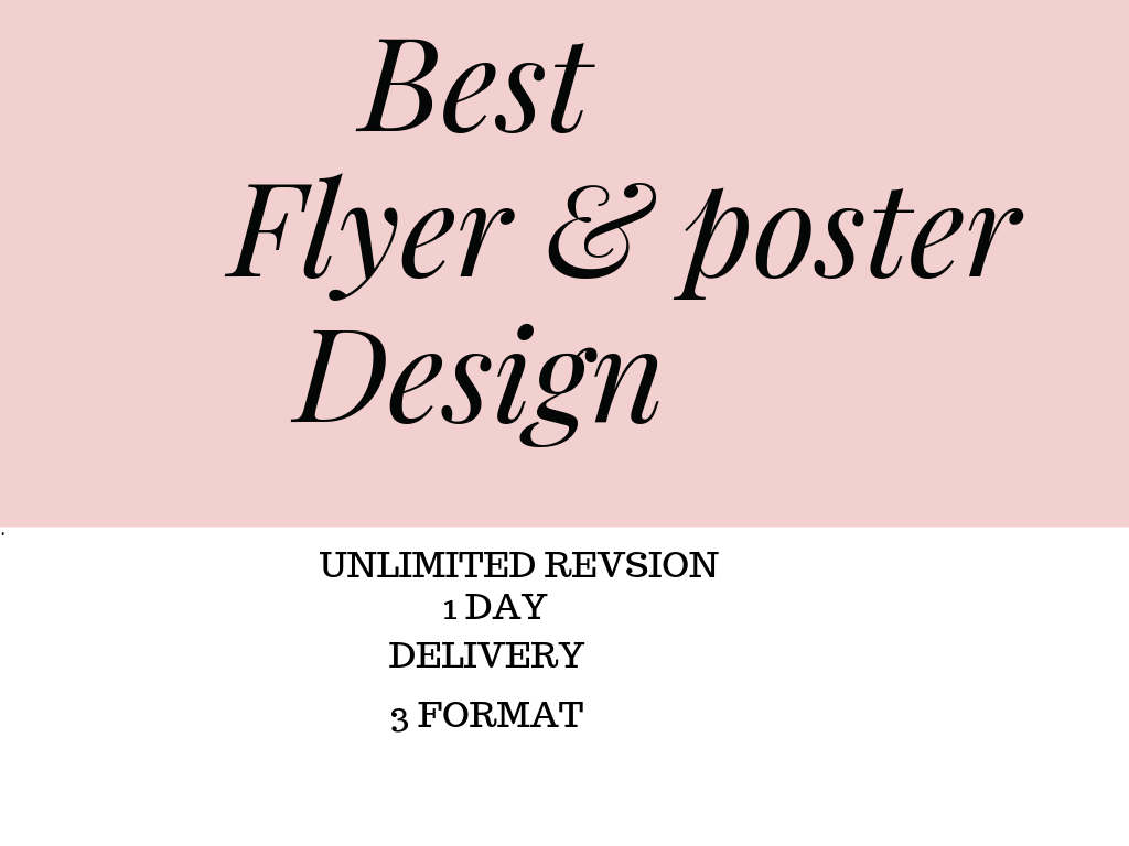 I'll design awesome business flyer