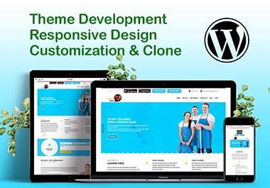 i will design professional SEO friendly and responsive wordpress website