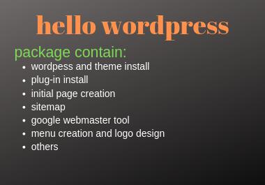 create an attractive wordpress website and logo design in 2 days