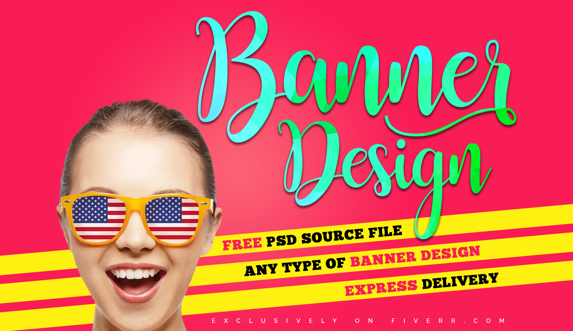 I will design 2 professional banner design