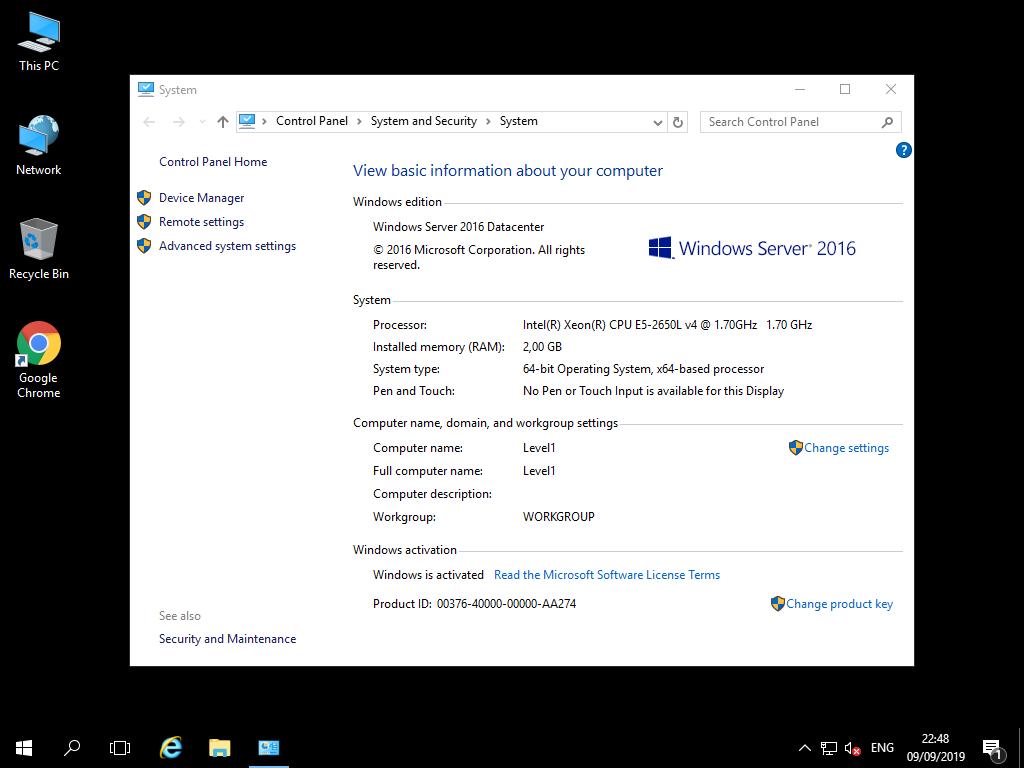 Windows VPS 2GB RAM , 40SSD , 1vCPU - Renewable