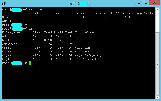 Linux VPS 1GB RAM , 25SSD , 1vCPU